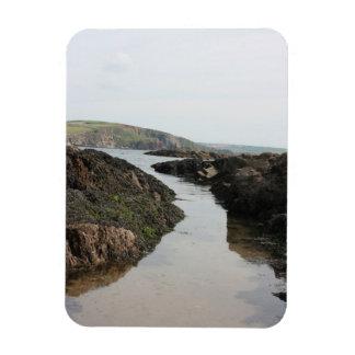 View from Burgh Island towards Devon coast Rectangular Photo Magnet