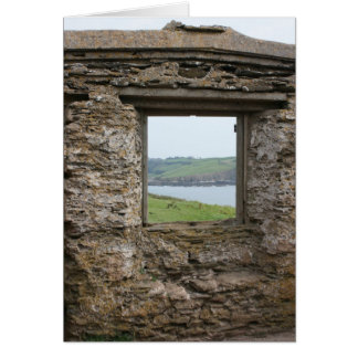 View from Burgh Island towards Devon coast Greeting Card