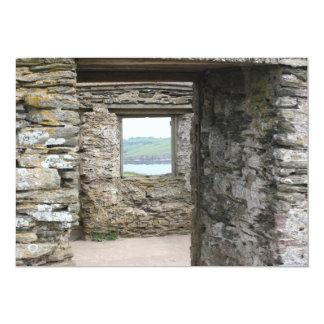 "View from Burgh Island towards Devon coast 5"" X 7"" Invitation Card"
