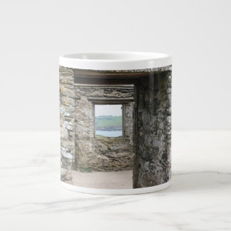 View from Burgh Island towards Devon coast Jumbo Mug