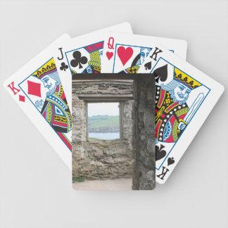 View from Burgh Island towards Devon coast Poker Cards