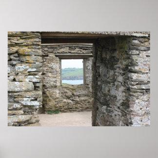 View from Burgh Island towards Devon coast Poster