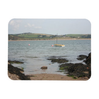 View from Burgh Island towards Devon coast Rectangular Photo Magnet