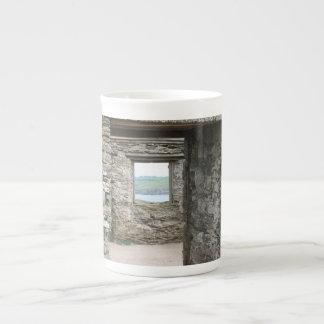 View from Burgh Island towards Devon coast Porcelain Mugs