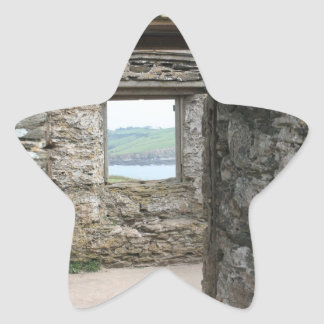 View from Burgh Island towards Devon coast Star Sticker