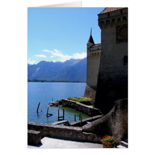 View from Chateau de Chillon Card