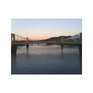 View from Clemente Bridge Pittsburgh Canvas Stretched Canvas Prints