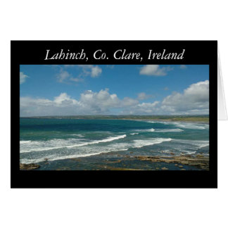 View from Cliffs, Lahinch, Clare, Ireland Card