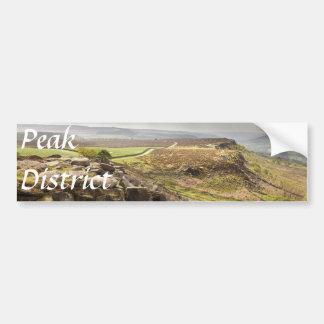 view from Curbar Edge in the Peak District photo Bumper Sticker