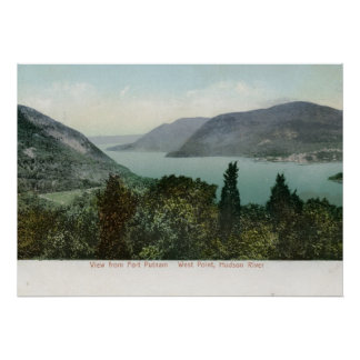 View from Fort Putnam, Hudson River 1906 Vintage Poster