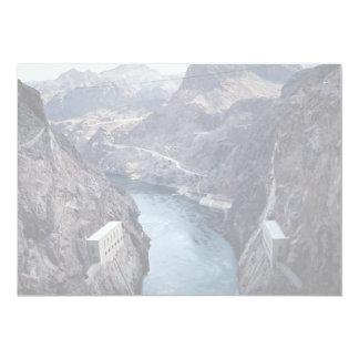 "View from Hoover Dam, Nevada/Arizona, USA 5"" X 7"" Invitation Card"