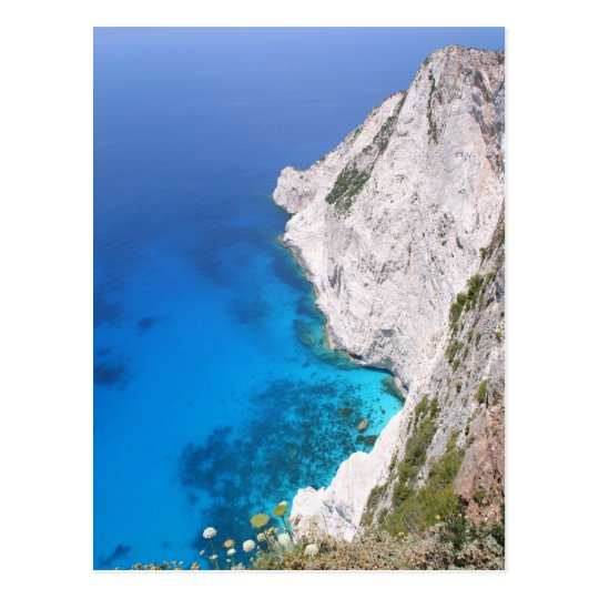 View from Kampi Cliffs, Zante Postcard