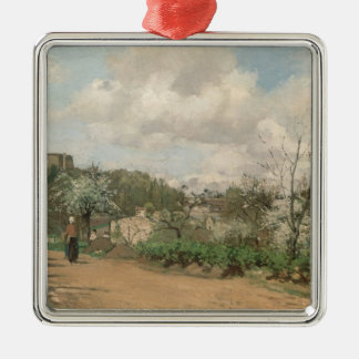 View from Louveciennes, 1869-70 Christmas Ornament