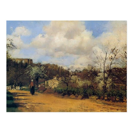 View from Louveciennes by Camille Pissarro Postcard