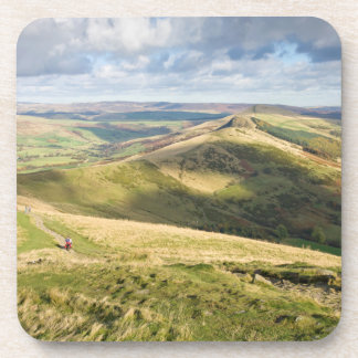 View from Mam Tor, Peak District souvenir photo Coaster