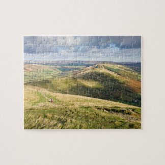 View from Mam Tor, Peak District souvenir photo Jigsaw Puzzle