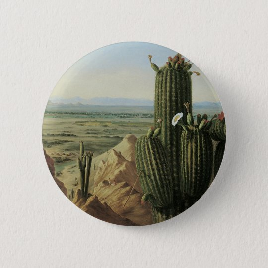 View from Maricopa Mountain Near Rio Gila by Pratt 6 Cm Round Badge