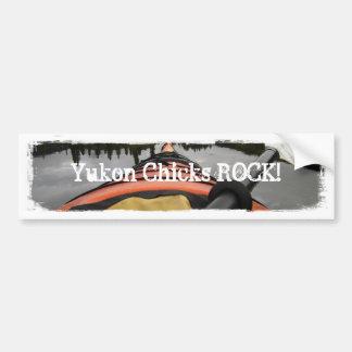 View From My Kayak; Yukon Chicks ROCK Car Bumper Sticker