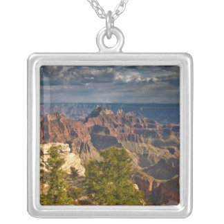 View from North Rim Visitor Center - Grand Square Pendant Necklace