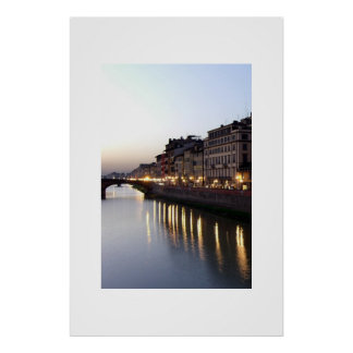 View from Ponte Vecchio Poster