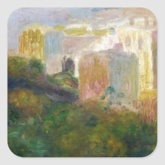 View from Renoir's Garden in Montmartre Square Sticker