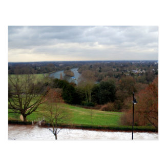 View from Richmond Hill Terrace, Surrey, England Postcard