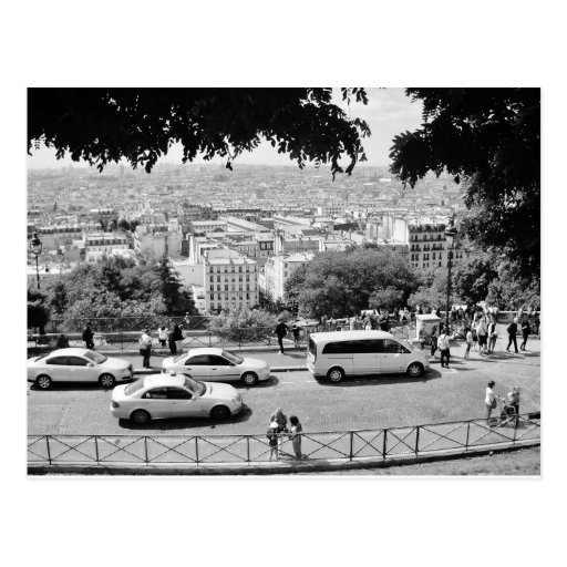 View from sacre coeur. Black and white. Post Cards