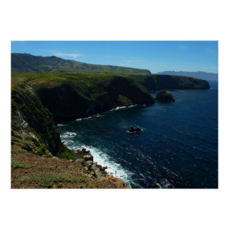 View from Santa Cruz Island in Channel Islands Poster