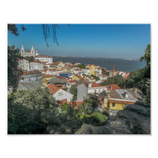 View from Sao George Castle, Portugal - Poster