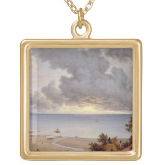 View from Shanklin, Isle of Wight, c.1827 (oil on Square Pendant Necklace