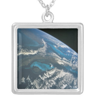 View from Space 4 Silver Plated Necklace