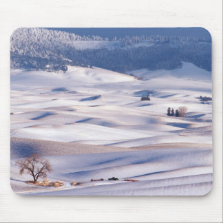 View from Steptoe Butte of rolling hills covered Mouse Pad