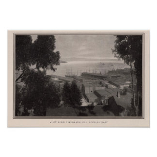 View from Telegraph Hill looking east Poster
