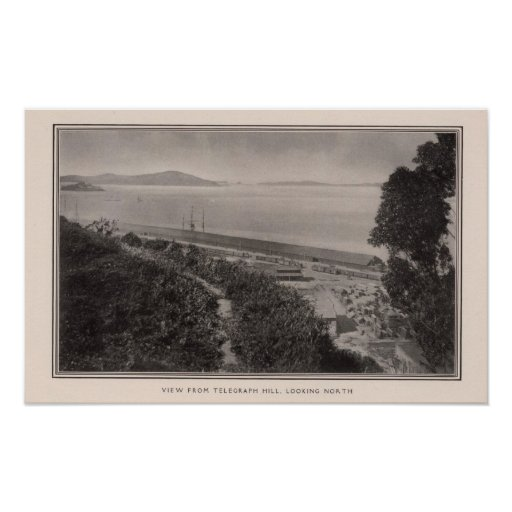 View from Telegraph Hill looking north Poster