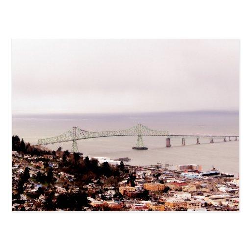 view from the Astoria Column Astoria–Megler Bridge Postcard