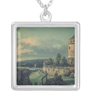 View from the Castle , 1753-55 Silver Plated Necklace