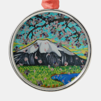 View from the Cherry Tree Silver-Colored Round Decoration