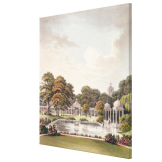 View from the dome, Brighton Pavilion, engraved by Canvas Print