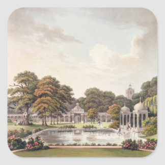 View from the dome, Brighton Pavilion, engraved by Square Sticker