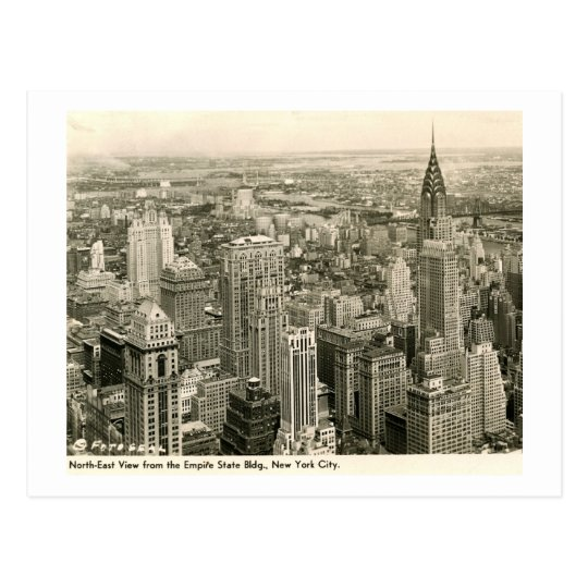 View from the Empire State Bldg., New York Vintage Postcard