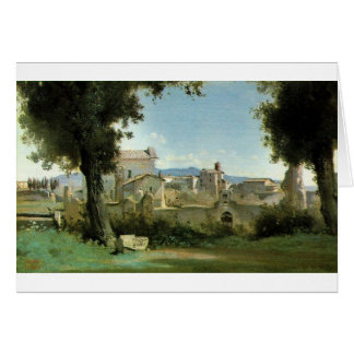 View from the Farnese gardens, Rome Camille Corot Greeting Card