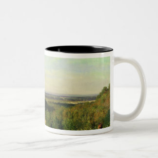 View from the Hilltops of Suresnes Two-Tone Coffee Mug