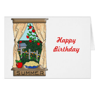 View From the Kitchen Window in Summer Greeting Card