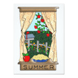 View From the Kitchen Window in Summer 13 Cm X 18 Cm Invitation Card