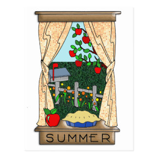 View From the Kitchen Window in Summer Postcard