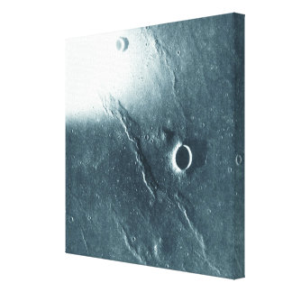 View from the Moon Stretched Canvas Prints