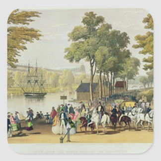 View from the North Bank of the Serpentine, 1851 Square Sticker