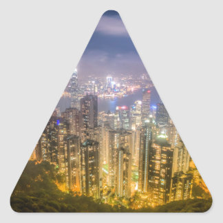 View from The Peak, Hong Kong Triangle Sticker