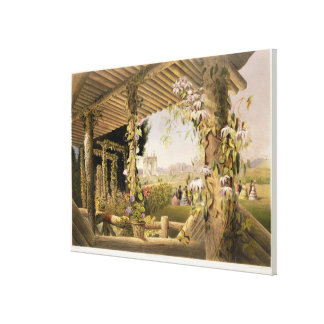 View from the Rustic Seat, Shrublands, from 'The G Canvas Print