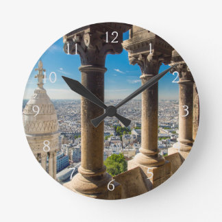 View from the top of Basilique du Sacre Coeur Round Clock